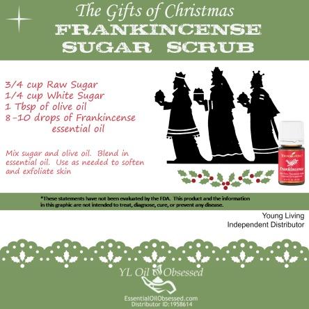 frankincense sugar scrub