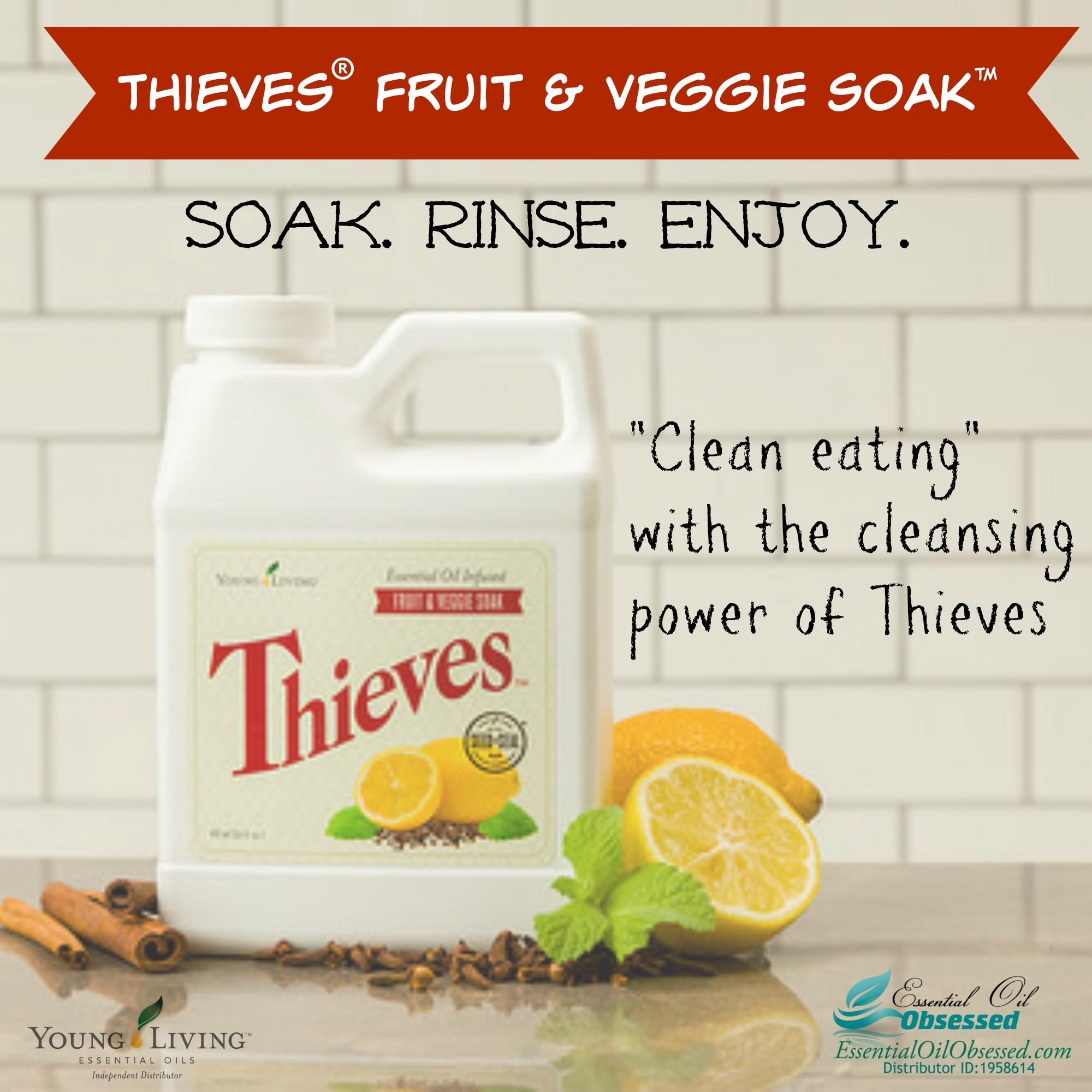 Thieves 174 Fruit Amp Veggie Spray And Soak Essential Oil