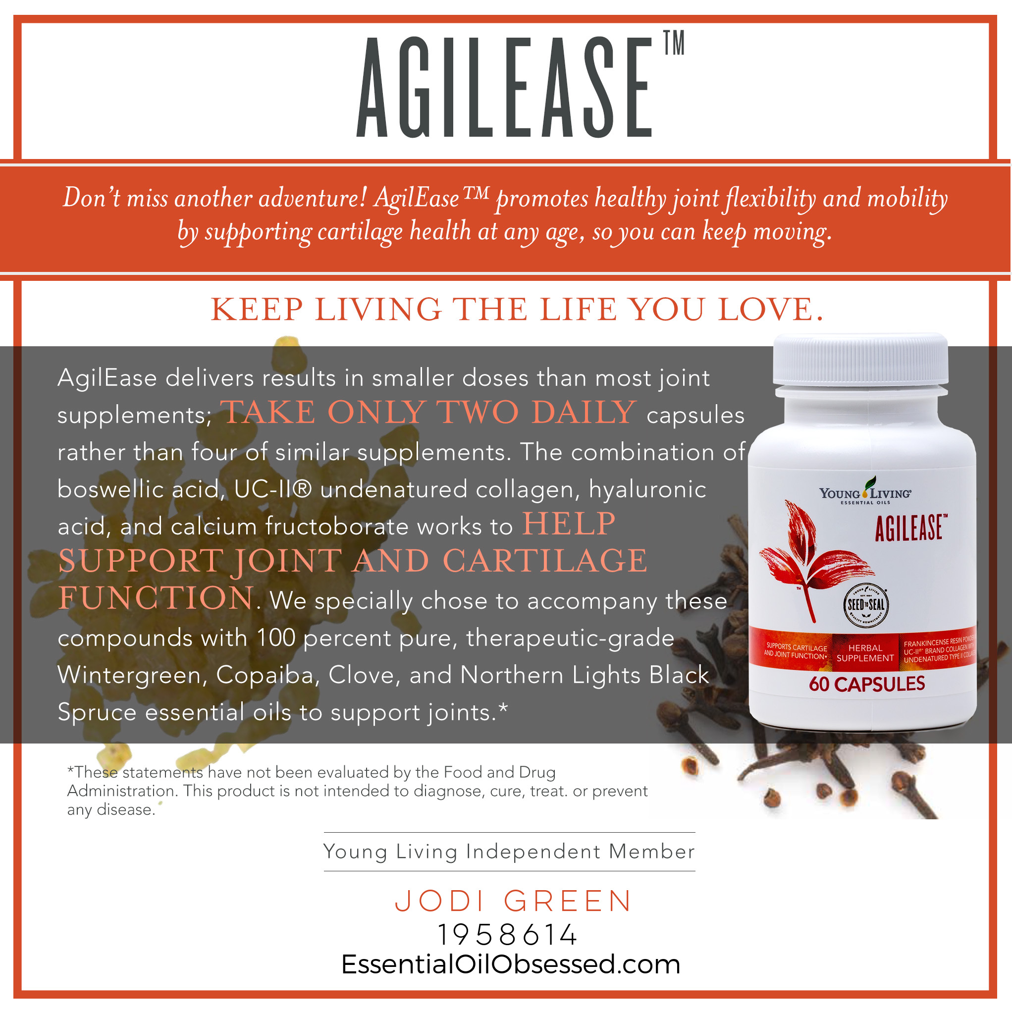 Agilease Dietary Supplement Essential Oil Obsessed