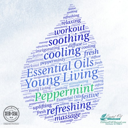peppermint topical word cloud