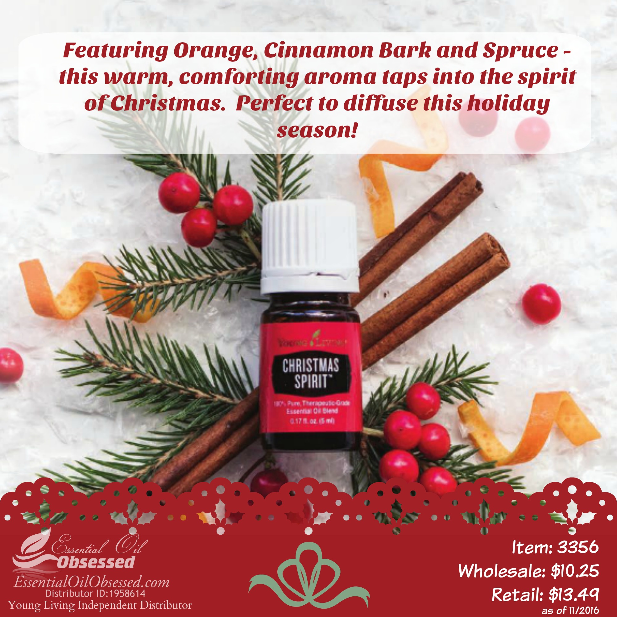 Young living essential oils essential oil obsessed for Christmas spirit ideas