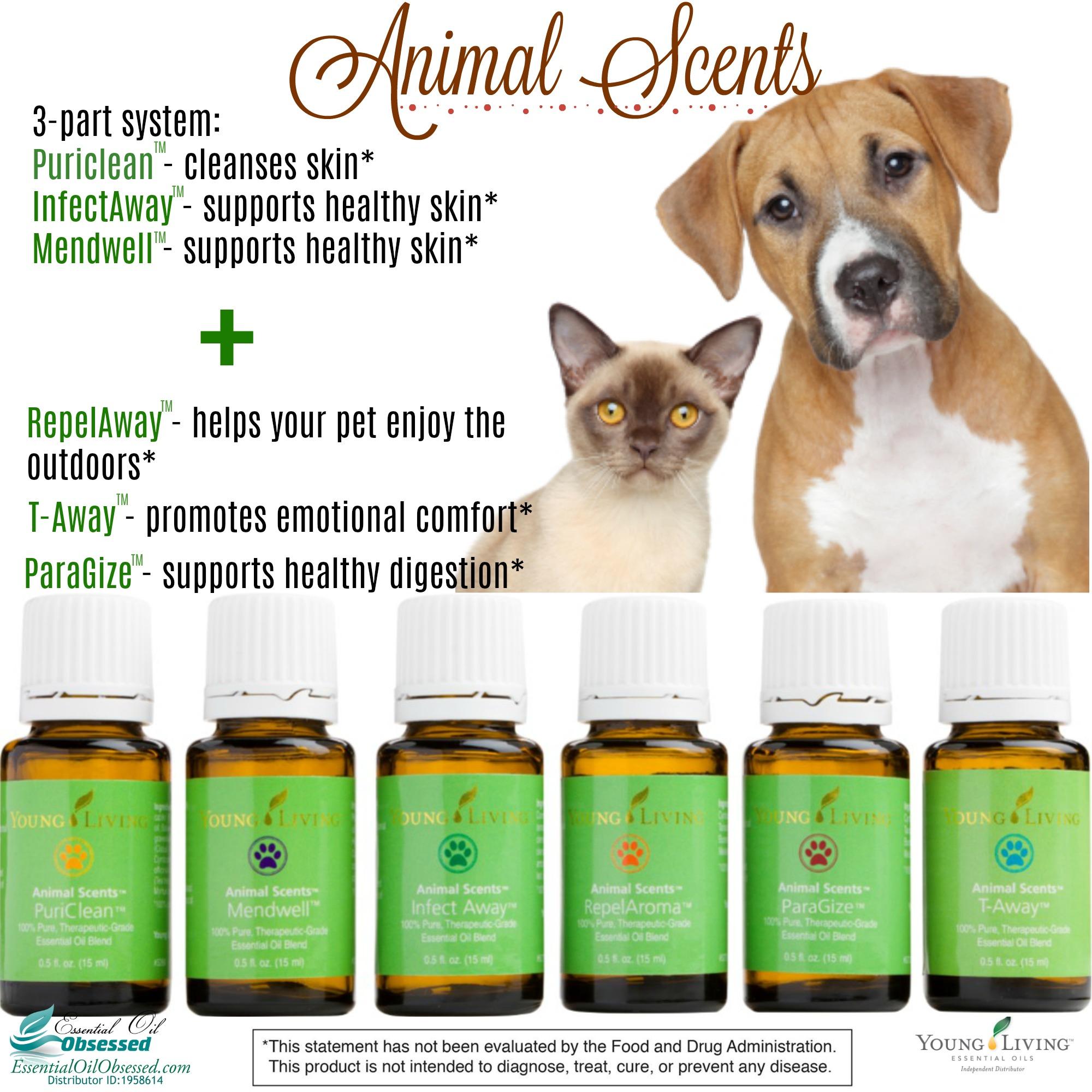 Animals and essential oils