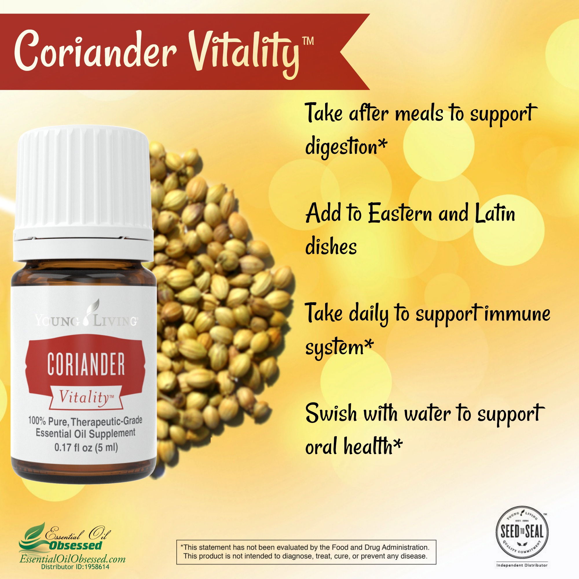 coriander vitality™ essential oil | essential oil obsessed