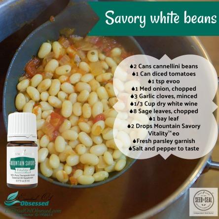 white beans, savory