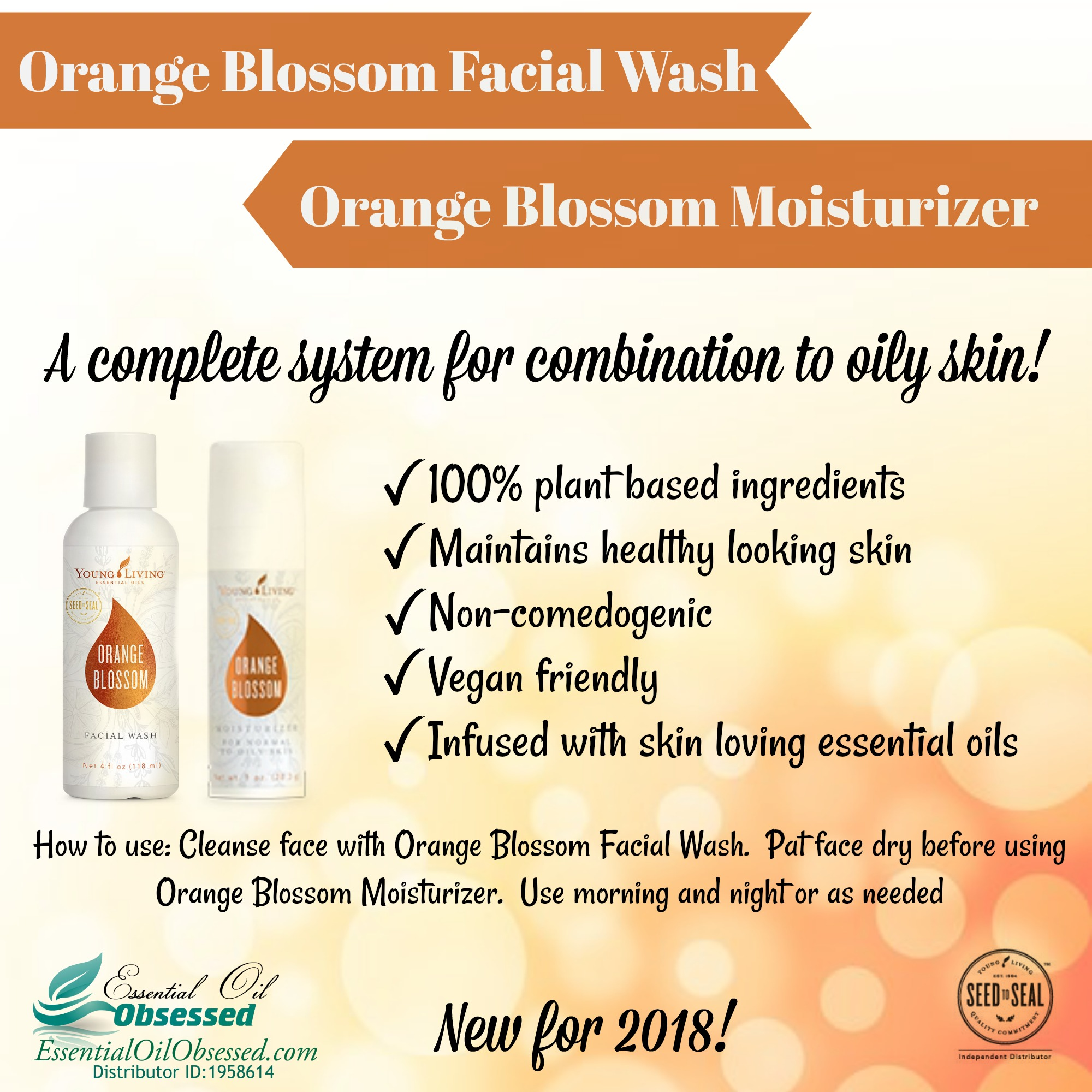 Orange Blossom Facial Wash and Moisturizer