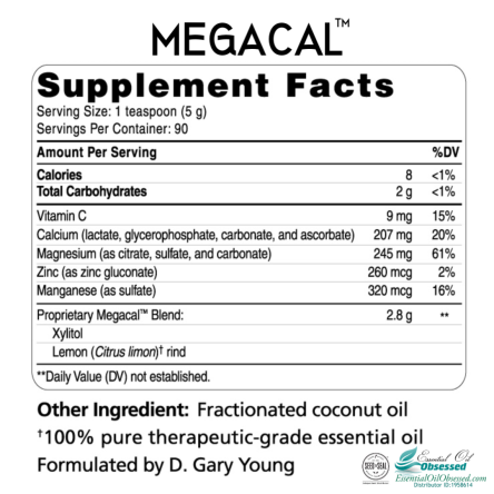 Mega Cal labels